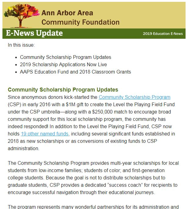 E-News: AAACF 2019 Education