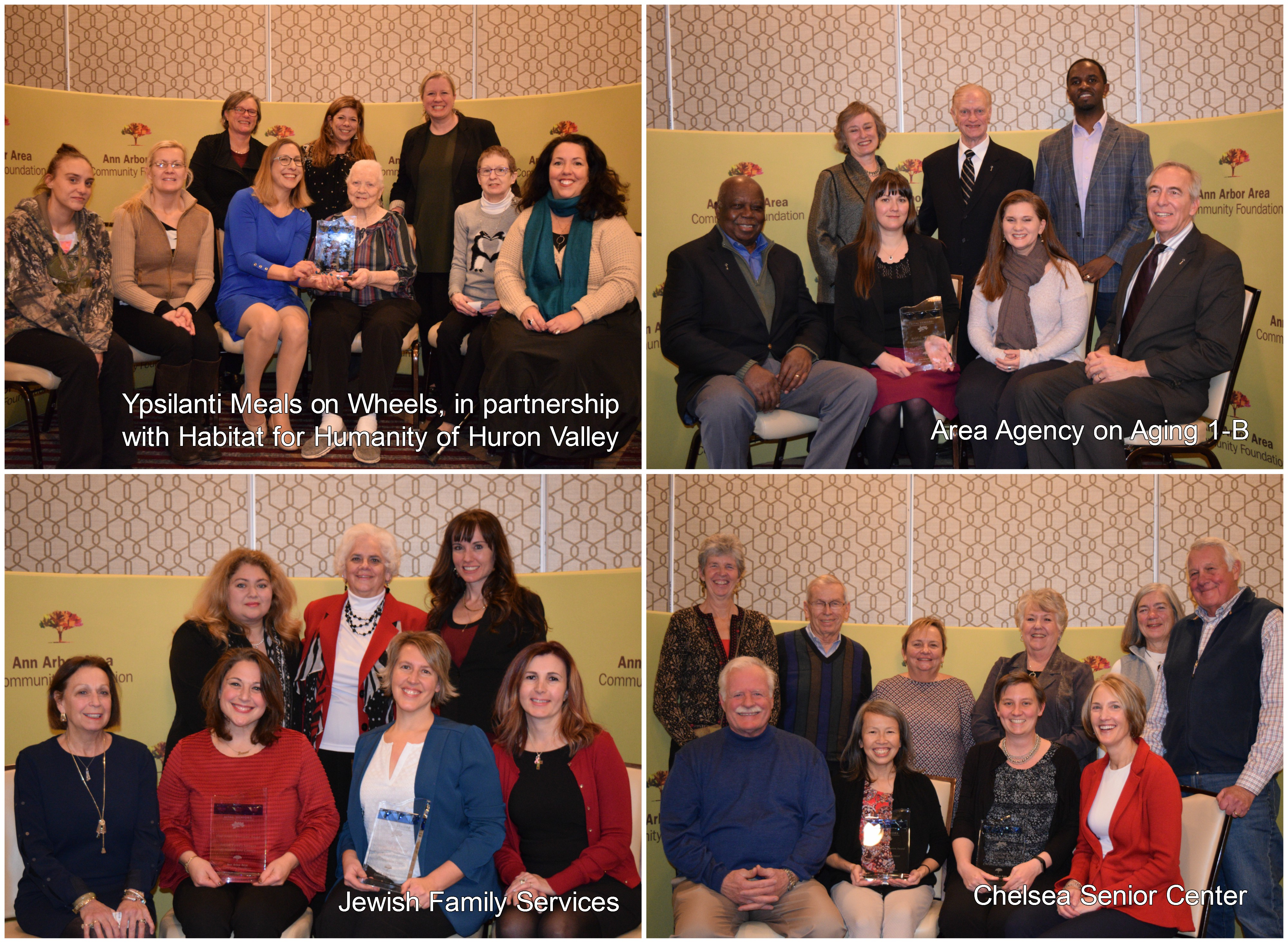 Vital Seniors competition award recipients collage of each posed with their award