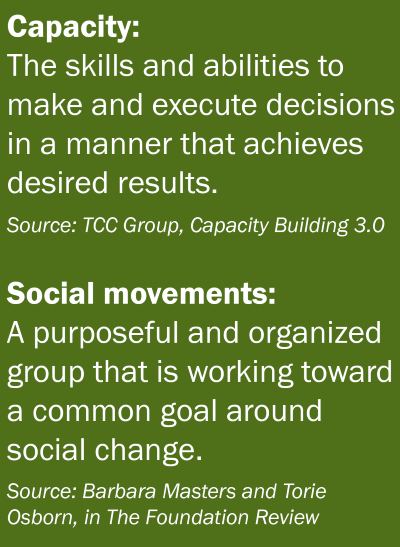 Community Input Sought on New Capacity Building for Social Movements Grant Progam
