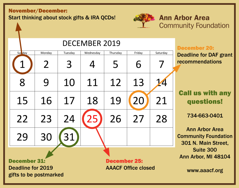 Year-End Deadlines & Helpful Reminders