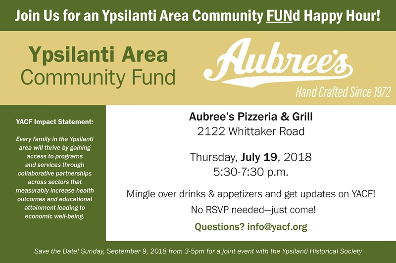 Join Us for an Ypsilanti Area Community Fund Happy Hour!